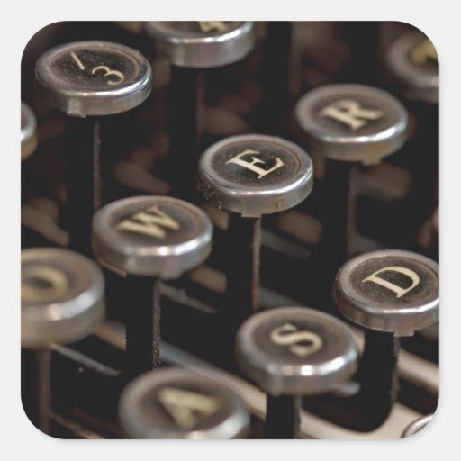 Typewriter Square Stickers