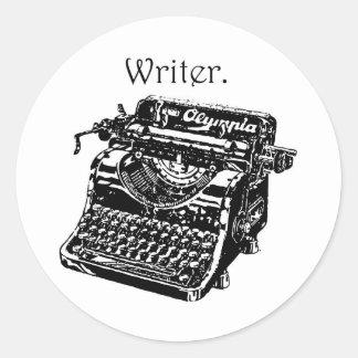 Typewriter Writer Round Sticker