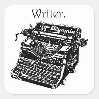 Typewriter Writer Square Sticker