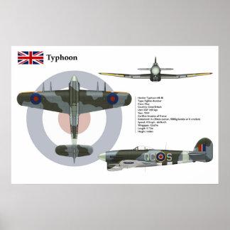 Typhoon Mk 1B 168 Squadron Poster