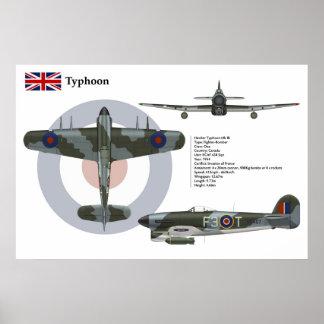 Typhoon Mk 1B Canada Poster