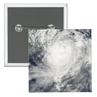 Typhoon Morakot over Taiwan 15 Cm Square Badge