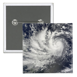 Typhoon Parma heading westward 15 Cm Square Badge