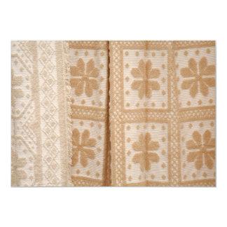 Typical azorean blanket personalized invite