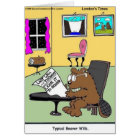 Typical Beaver Last Will & Testament Card