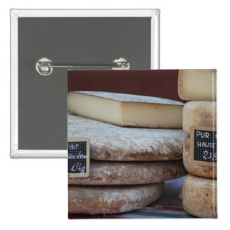 typical cheeses of pyrenees 15 cm square badge