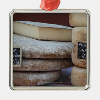 typical cheeses of pyrenees metal ornament