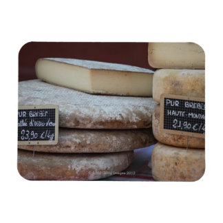 typical cheeses of pyrenees rectangular photo magnet