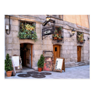 Typical inn near the Greater Place of Madrid Postcard