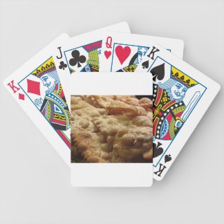 Typical italian carnival sweets bicycle playing cards
