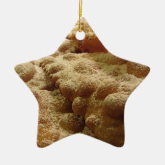 Typical italian carnival sweets ceramic ornament