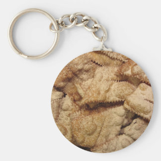 Typical italian carnival sweets key ring
