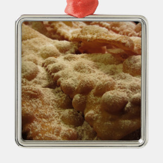 Typical italian carnival sweets metal ornament