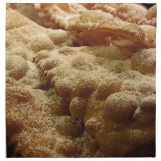 Typical italian carnival sweets napkin
