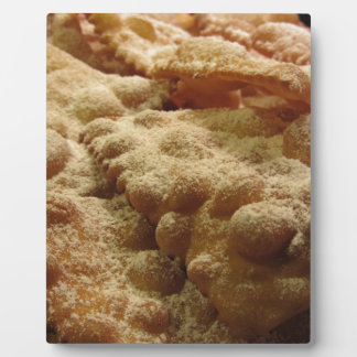 Typical italian carnival sweets plaque