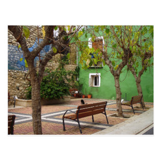 Typical place in a Spanish town Postcard