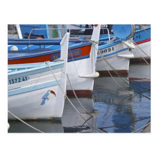 Typical Provencal fishing boats painted in 2 Postcard