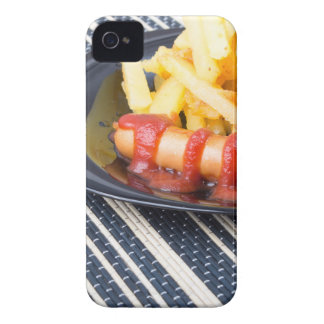 Typical Russian dish - fried potatoes and sausage iPhone 4 Case-Mate Cases