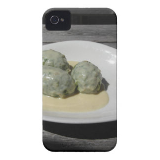 Typical South Tyrolean dish of canederli pasta iPhone 4 Case-Mate Case