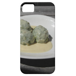 Typical South Tyrolean dish of canederli pasta iPhone 5 Cover