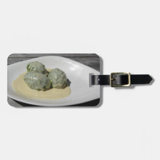 Typical South Tyrolean dish of canederli pasta Luggage Tag