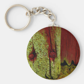 Typical Swedish Falun red color, very popular in S Basic Round Button Key Ring