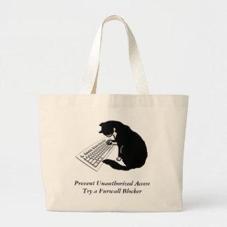 Typing Cat Jumbo Tote Bag