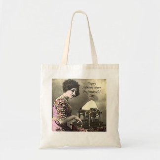 Typist Administrative Professional Day Vintage Pho Budget Tote Bag