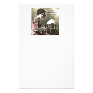 Typist Administrative Professional Day Vintage Pho Personalized Stationery
