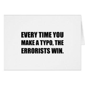 Typo Errorists Card