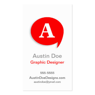 Typo' Red front/back Business Cards