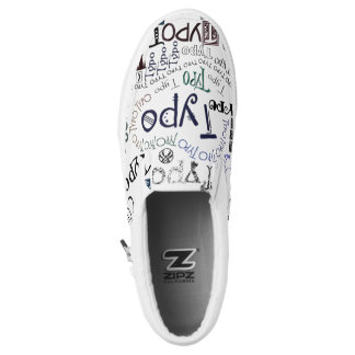 """""""Typo"""" Typography Graphic in Colored Text Printed Shoes"""