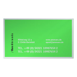 Typo visiting cards pack of standard business cards