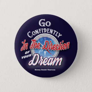 Typograhy Inspirational Dream 6 Cm Round Badge