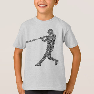 Typographic Baseball Softball Player TShirt