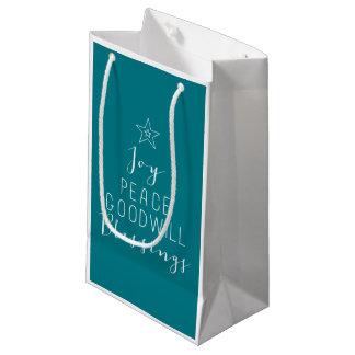 Typographic Christmas Tree Gift bag