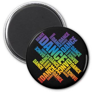 Typographic Dance (Spectrum) 6 Cm Round Magnet