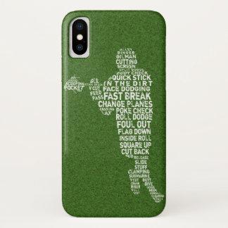 Typographic Lacrosse Player Phone Case