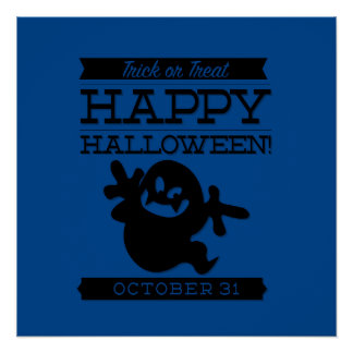 Typographic retro Halloween