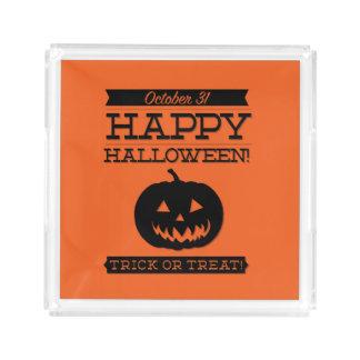Typographic retro Halloween Acrylic Tray