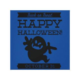Typographic retro Halloween Canvas Print