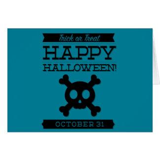 Typographic retro Halloween Card