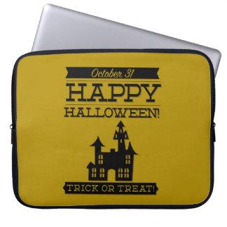 Typographic retro Halloween Computer Sleeve