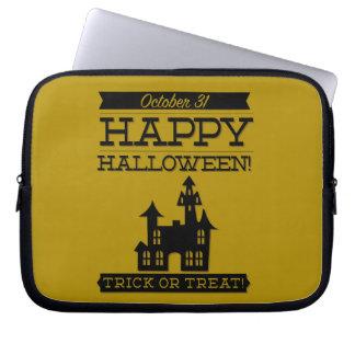 Typographic retro Halloween Computer Sleeves