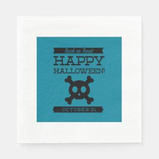 Typographic retro Halloween Disposable Napkins