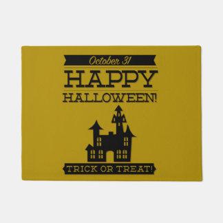 Typographic retro Halloween Doormat