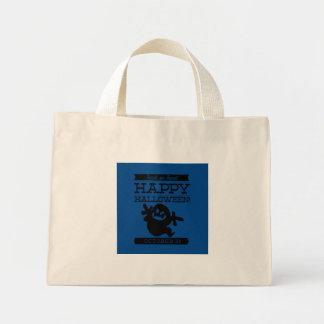 Typographic retro Halloween Mini Tote Bag