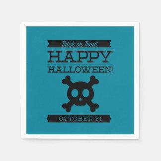 Typographic retro Halloween Paper Napkins