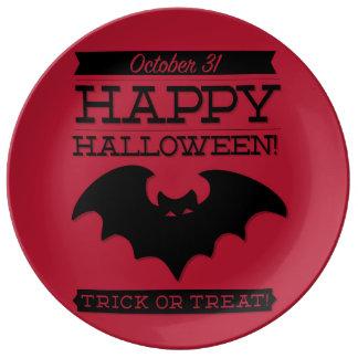 Typographic retro Halloween Porcelain Plate