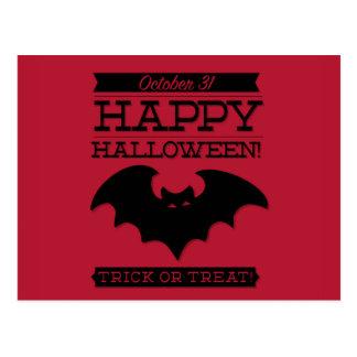 Typographic retro Halloween Postcard